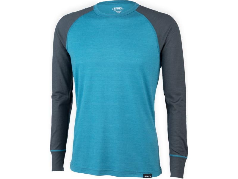 Surly Raglan Shirt: Blue/Gray