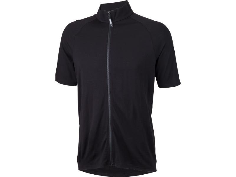 Surly Men's Merino Wool Short Sleeve Jersey, Black