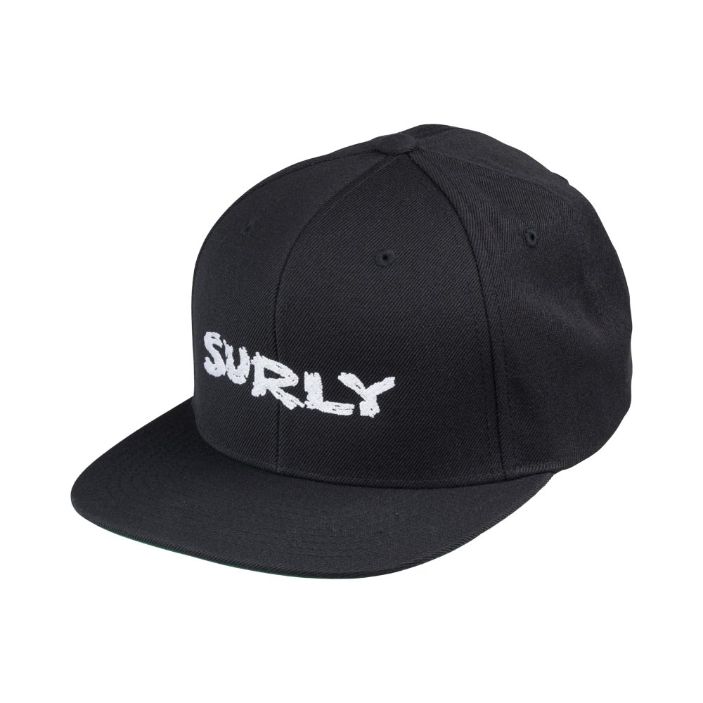 Surly Logo Snapback Cap: Black/White One Size