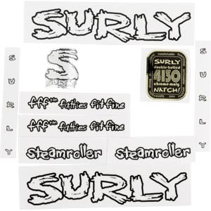 Surly Steamroller Decal Set, White