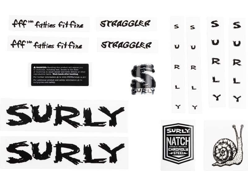 Straggler Decal Set, black