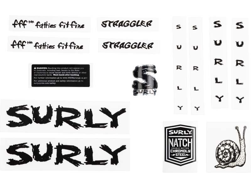 Straggler Decal Set, black