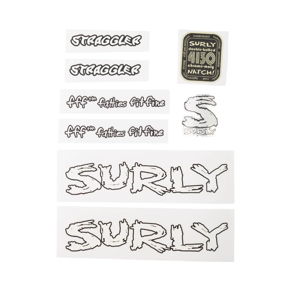 Surly Straggler Decal Set, White