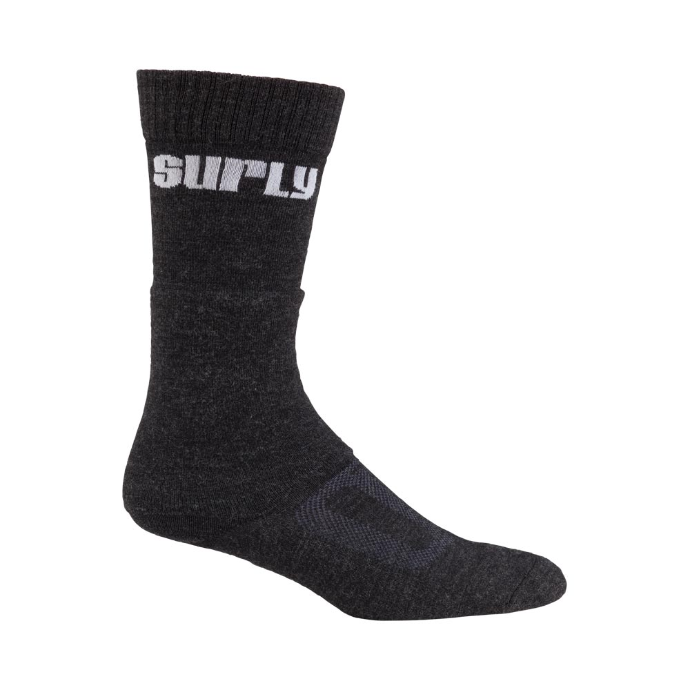 Surly Tall Wool Socks, Black