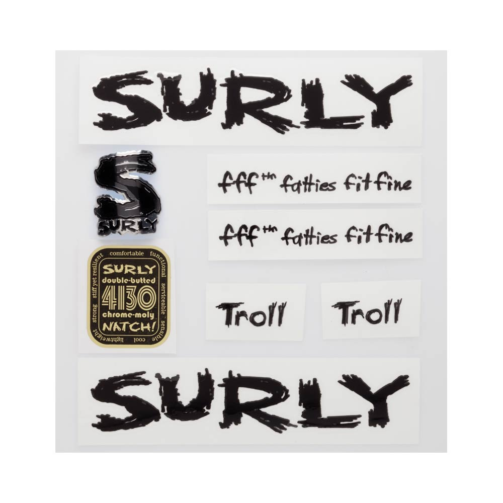 Surly Troll Decal Set, Black