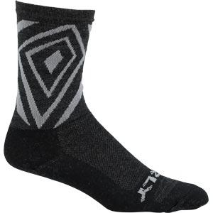 "Surly Vortechia 5"" Wool Sock, Black/Gray"