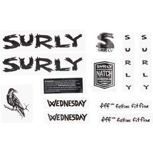 Wednesday Decal Set, black