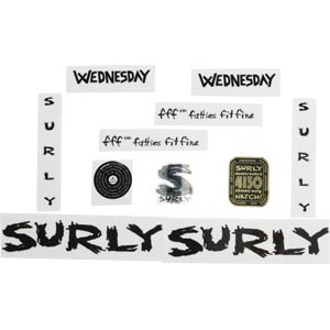 Surly Wednesday Decal Set, Black