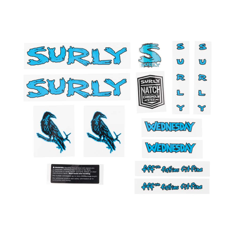 Wednesday Decal Set, blue