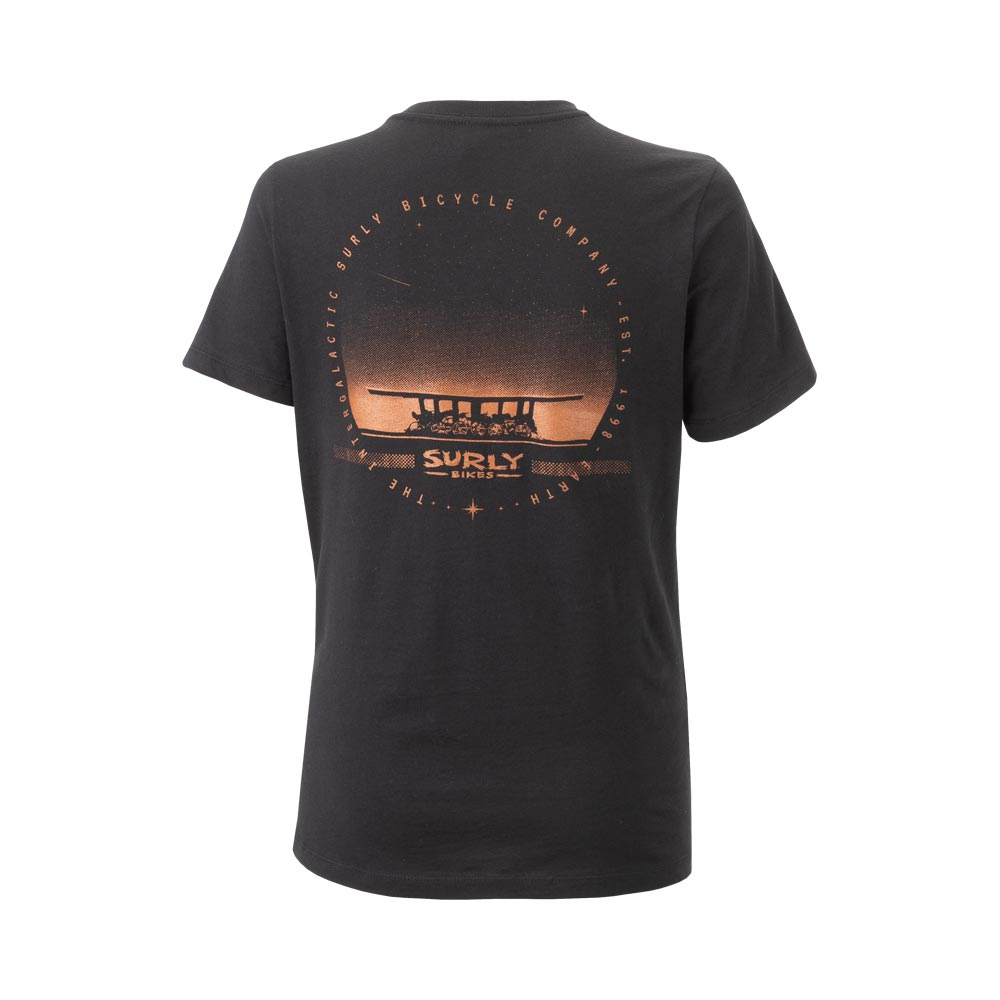 Surly Space Station Women's Tee, Black - backside view