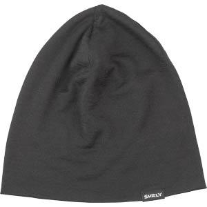 Surly Wool Beanie, Black, flat un-folded